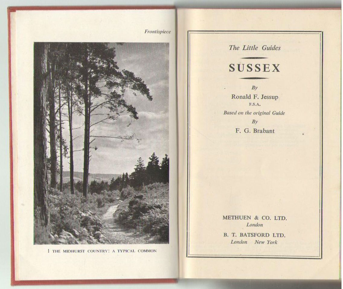 Sussex / by Ronald F. Jessup ; Based on the Original Guide by F. G. Brabant, Jessup, Ronald F. F. G. Brabant