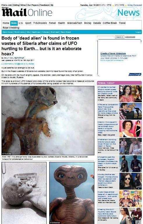 Alien muerto en Rusia