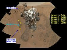 NASA&#39;s Curiosity Mars rover documented<br /> itself in the context of its work site, an<br /> area called &quot;Rocknest Wind Drift,&quot; on the<br /> 84th Martian day, or sol, of its mission<br /> (Oct. 31, 2012).<br /> Image credit: NASA/JPL-Caltech/LANL/CNES/IRAP<br /> <a href='http://www.nasa.gov/mission_pages/msl/multimedia/pia16468.html' class='bbc_url' title='External link' rel='nofollow external'>� Full image and caption</a><br /> <a href='http://www.nasa.gov/multimedia/videogallery/index.html?media_id=156455271' class='bbc_url' title='External link' rel='nofollow external'>� Related video</a>